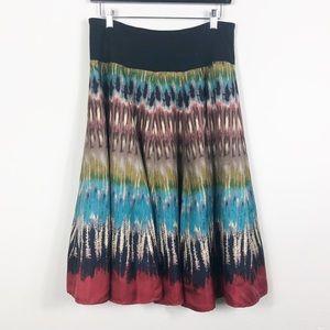 Jones Silk Mid Calf Skirt Medium